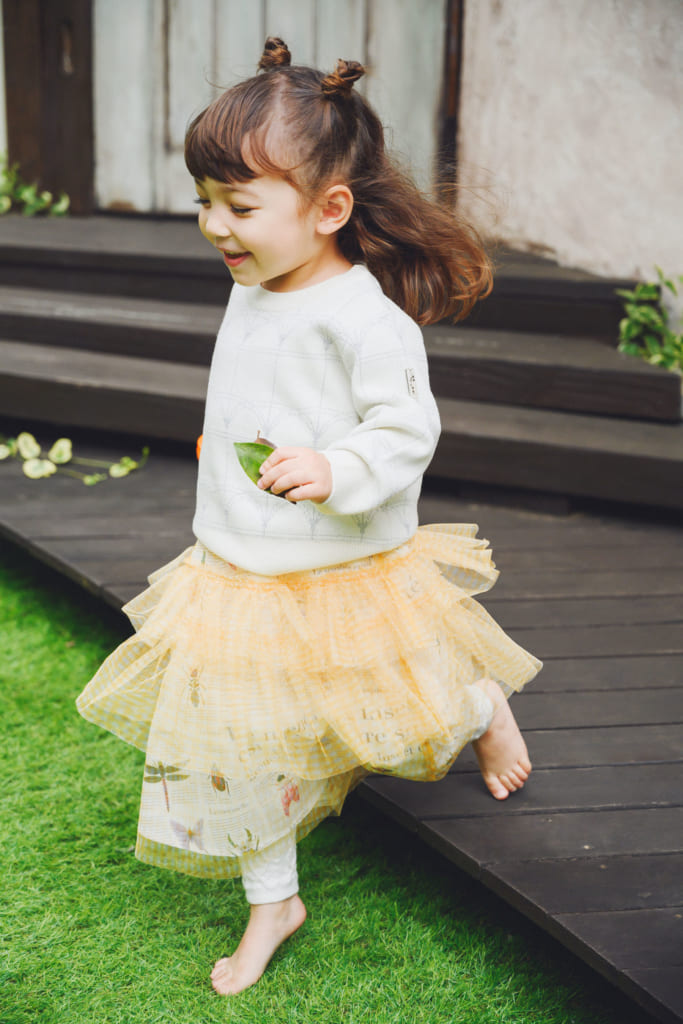 KODOMO プラチナジャガード織Green House 再生素材ニット   Insect Garden