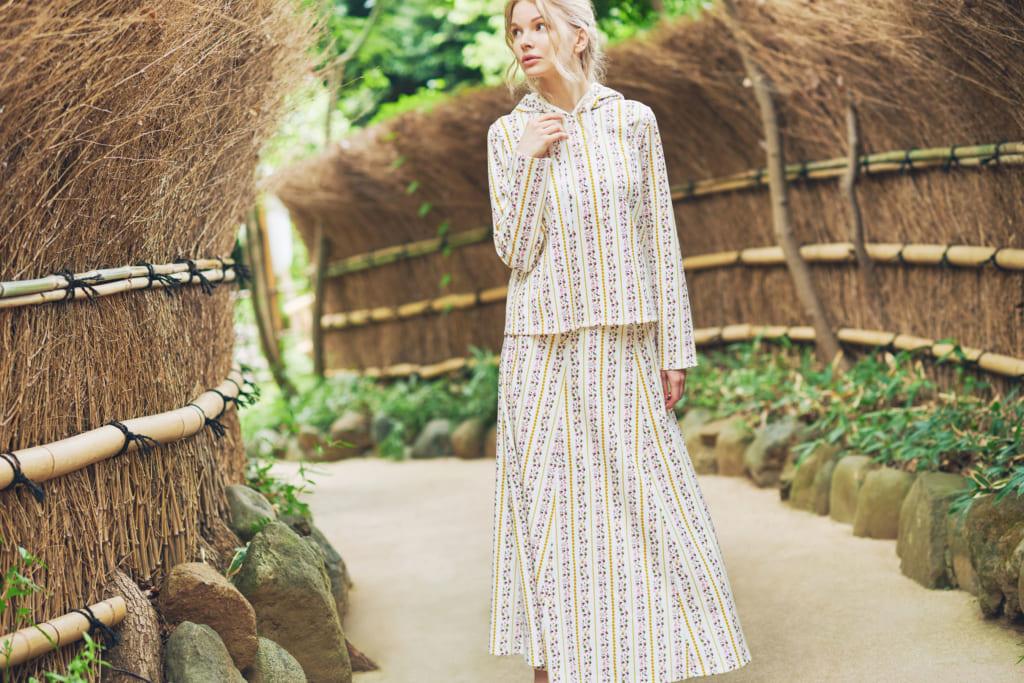 OTONA Rayures 再生素材ロングスカート&フーディ | Insect Garden